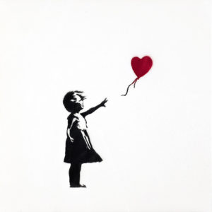 BANKSY - Girl with Balloon 2004 © Steve Lazarides