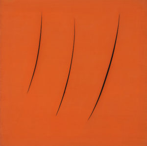 Lucio Fontana(Italian, 1899–1968) Spatial Concept, Expectations, 1959 Olnick Spanu Collection, New York © 2018 Fondazione Lucio Fontana/Artists Rights Society (ARS), New York/SIAE, Rome