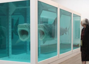 Damien Hirst - The Physical Impossibility of Death in the Mind of Someone Living 1991, formaldehyde