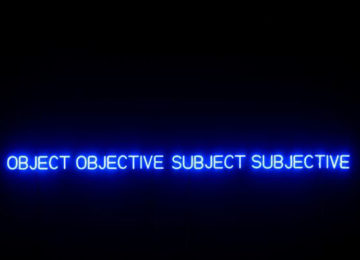 Neon in Contextual Play: Joseph Kosuth