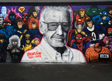 Stan Lee wall in Glasgow by EJEK