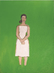 Alex Katz Ada with white dress 1958