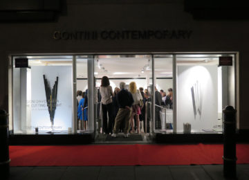 Contini Contemporary Opening Exhibition The cutting of Light Gioni David Parra