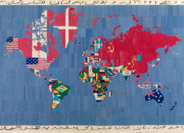 Alighiero Boetti Mappa 1983-84 embroidery on cloth Tornabuoni-Art