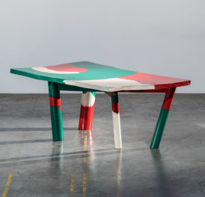 Gaetano Pesce Sansone Table 1980 cast resin Studio Shapiro Laffanour Galerie Downtown