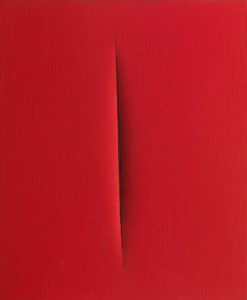 Lucio Fontana Concetto spaziale Attesa 1965 water based paint on canvas Tornabuoni Art