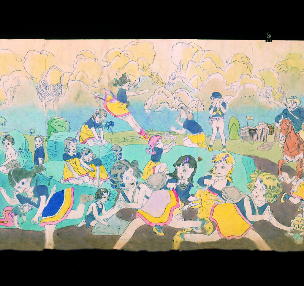 Part Two. Break out of concentration camp killing and wounding enemy soldier guards, Henry Darger © Kiyoko Lerner