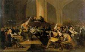 FRANCISCO DE GOYA, Tribunale dell'Inquisizione, 1819, Real Academia de Bellas Artes de San Fernando, Madrid