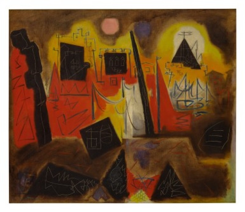 Andrè Masson, La rochelle, jaune, rouge, orange, 1947